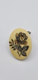 Sjaalclip met roos afbeelding