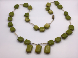 Ketting met groene stenen