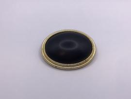 Zwarte broche