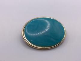 Turquoise broche