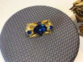 Broche met blauwe kristal VERKOCHT