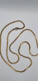 Platte slangenketting goudkleurig