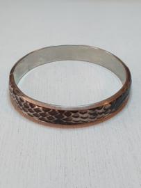 Armband met 'slangenleer'