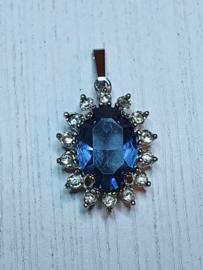 Hanger met blauwe steen VERKOCHT