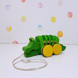 Trekfiguur Krokodil - Plan Toys - Refurbished