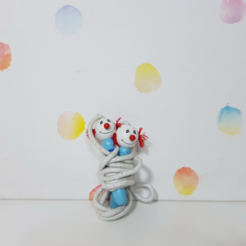Houten Springtouw - Clowns - Refurbished