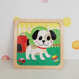 Houten Puzzel Hond - Janod - Tweedehands