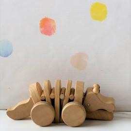 Krokodil aan Trekkoord Plan Toys - Refurbished