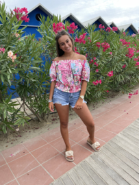 Blouse bloem Pink - Dewi