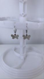Zilveren oorbellen vlinders