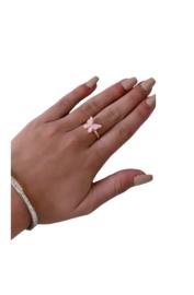 Ring vlinder roze