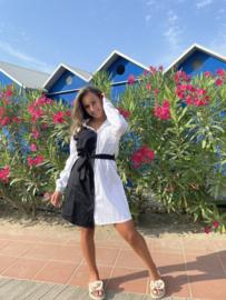 Blouse jurk zwart/wit - Guusje