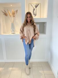 Satijnen blouse gold- Louise