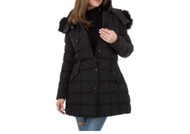 Zwarte jas lang - Femke