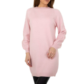 Suikerspin roze, driekwart trui
