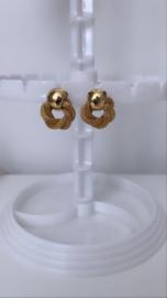 Rond design gouden oorbellen