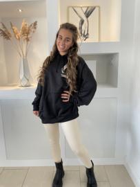 Lange hoodie angel zwart - Bo