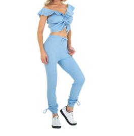 Comfy pak blauw met touwtjes - Jodie
