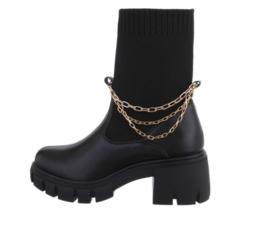 Laarzen zwart/goud details