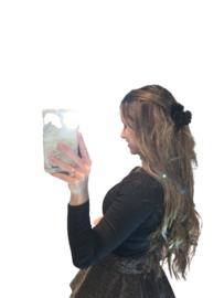 Haarclip zwart bont