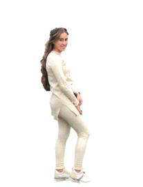 Comfy pak beige print (2-delig)