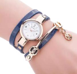Armbandhorloge blauw