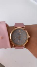 Horloge rosé goud met glitters