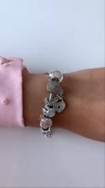 Armband zilver met bedeltjes