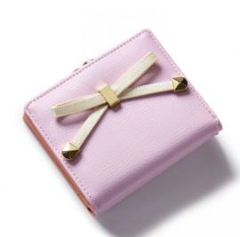 Mini portemonnee roze
