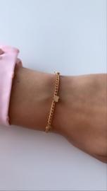 Armband goud met kleine hartjes