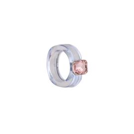 Ring kleur met steen