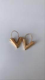 Gouden oorbellen V
