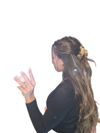 Haarclip luipaard bont