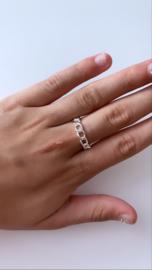 Ring stoer zilver