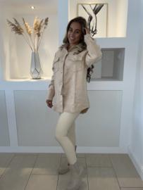 Suede jasje beige -  Selina