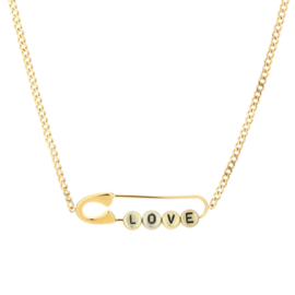 Ketting paperclip LOVE