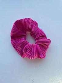Scrunchie donker roze
