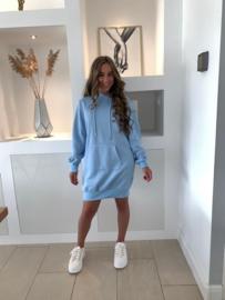 Hoodie jurk blauw