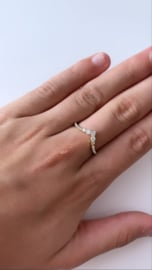 Ring sparkling goud