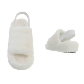 Pantoffels bont, wit