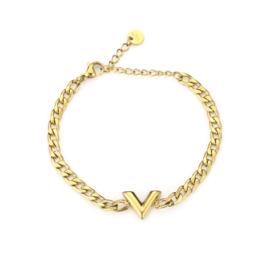 Armband V goud