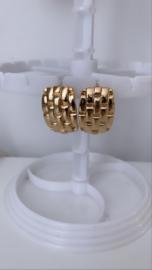 Gevlochten oorbellen goud