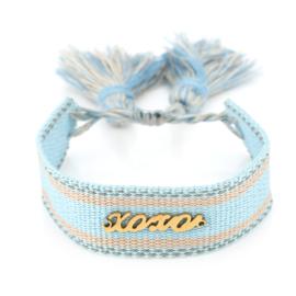 Bohemian bali armband - XOXO / blue