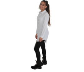Overhemd blouse wit, lang model