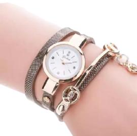 Armbandhorloge bruin