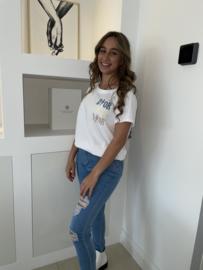 T shirt wit - Luna