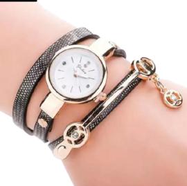 Armbandhorloge zwart