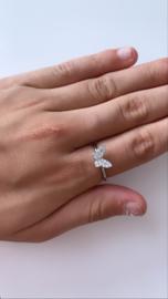 Ring zilver vlinder