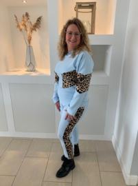 Comfy blue luipaard met capuchon (2-delig)