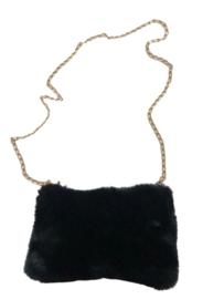 Fluffy tas zwart